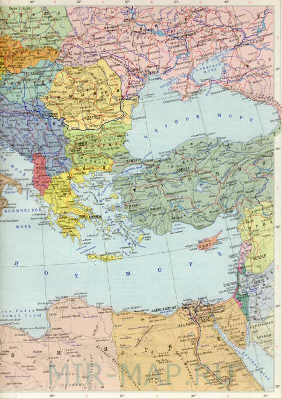 Политическая карта европы страны
