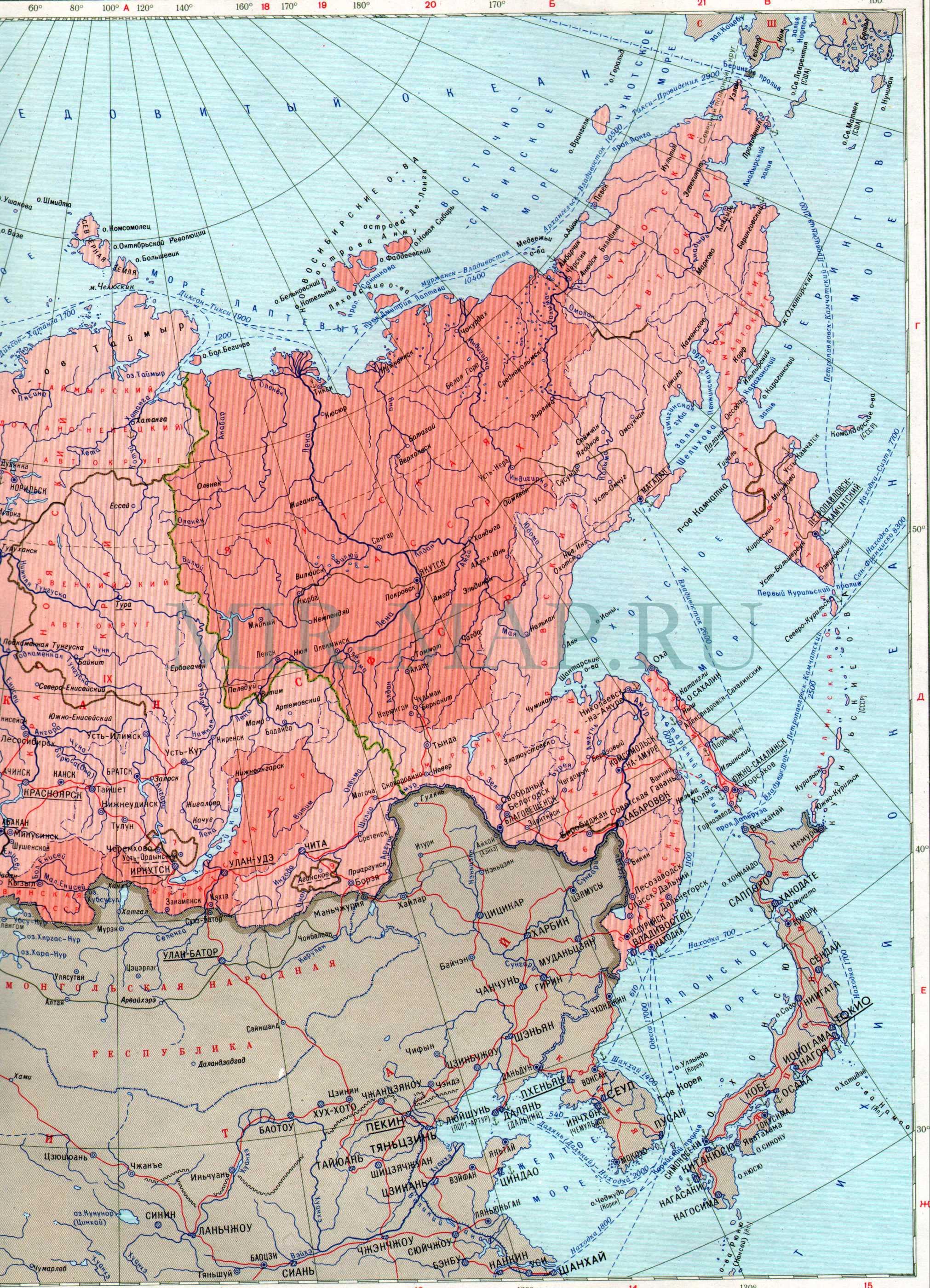 Политико административная карта ссср