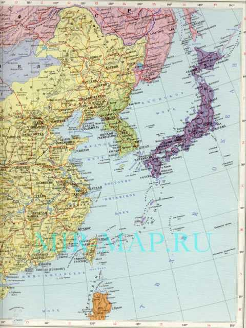 Политическая карта китая карта