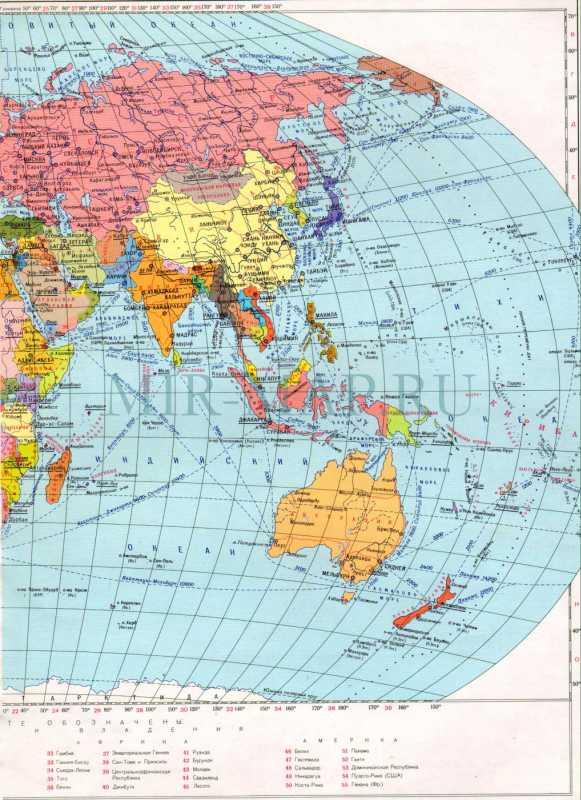 Карта мира на русском языке карта