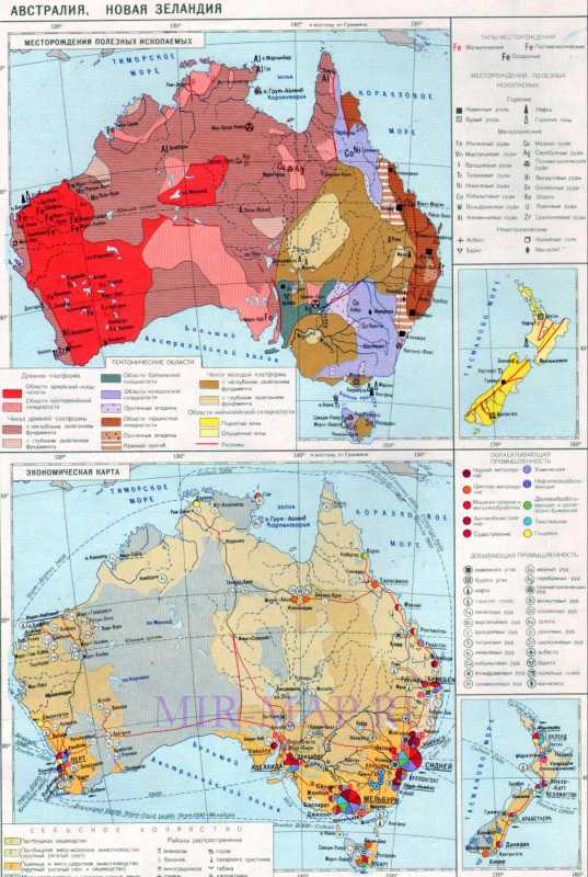 Экономическая карта австралии на