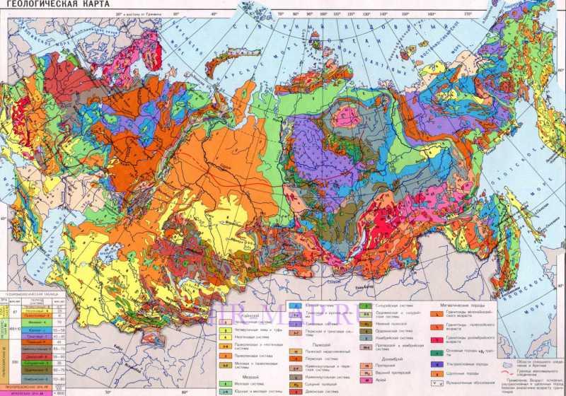 Геологическая карта России. Большая подробная ...: http://mir-map.ru/439570.html