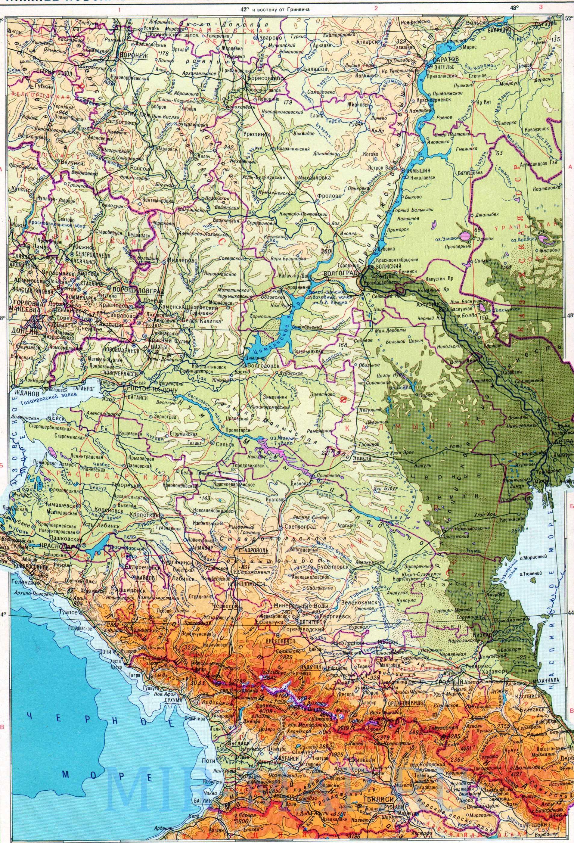 Геог�а�и�е�кая ка��а Нижнего Поволж�я и Севе�ного Кавказа