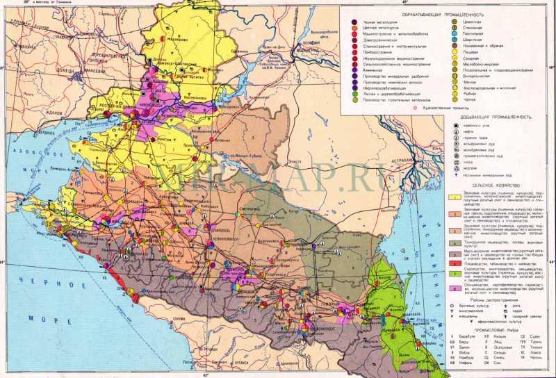 Экономическая карта северного