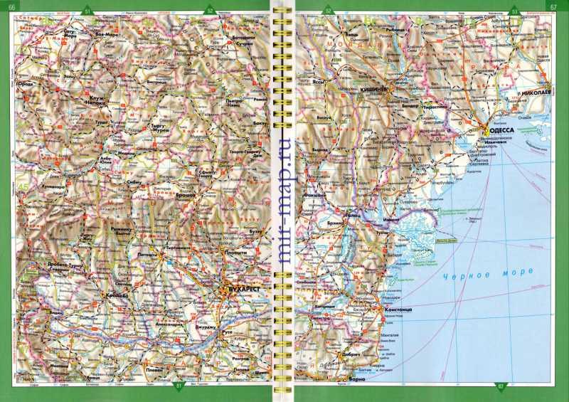Автомобильная карта румынии на