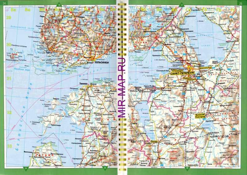 Автомобильная Карта Финляндии