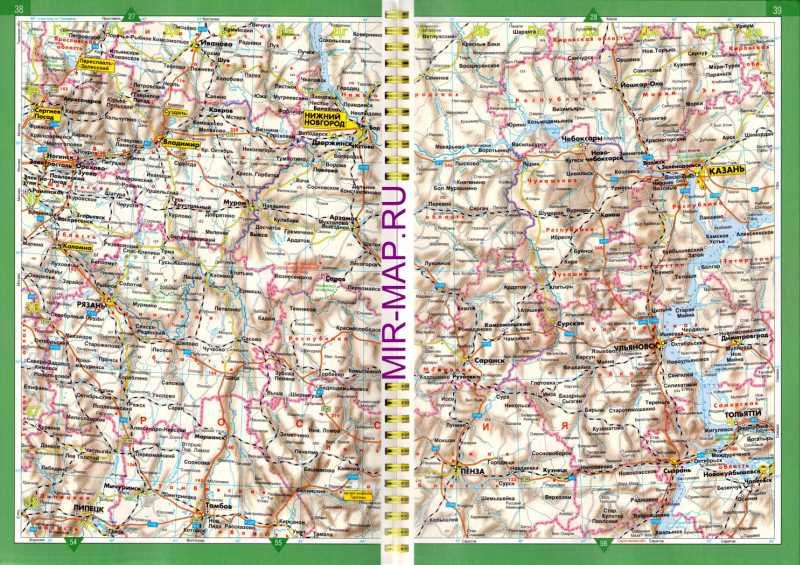 Автомобильная карта Нижегородской.
