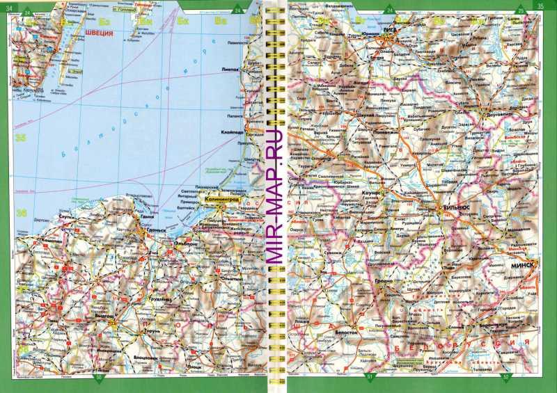 Карта польши автомобильная карта