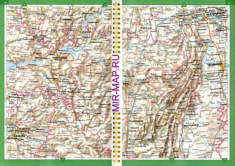 Карта дорог Башкинии. Карта